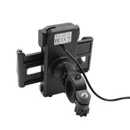Wholesale 2 in IP65 Waterproof Motorcycle Cell Phone Mount Holder with V A USB Charger Power Switch FT Power Cable UCH IN RET