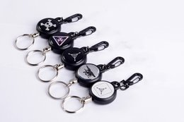 Ring lost online shopping - resilience telescopic steel wire key ring anti lose anti theft telescopic key chain anti lose key buckle easy pull button TC180912