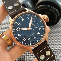 Big pilots watch online shopping - 2017 Top Quality Luxury Wristwatch Big Pilot Midnight Blue Dial Automatic Men s Watch MM Men Mens Watch Watches