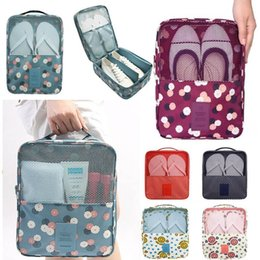 $enCountryForm.capitalKeyWord NZ - Waterproof Shoes Bags Printed Storage Organizer Pouch Pocket Bag New Handle Nylon Zipper Bags For Clothes In Travel Outdoor HH7-1257
