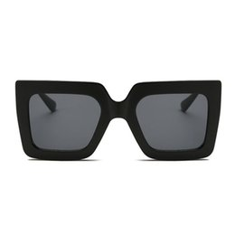 Discount sunglasses wholesale united states - Europe And The United States Trend Sunglasses Ladies Retro Sunglasses Two-Color Transparent Square Large-Frame Glasses T