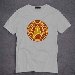 3b2121bb9 Summer Short Sleeve T Shirts Star Trek Starfleet Academy Command T Shirt  Men's Summer O Neck Cotton Casual T-shirt Tops Tee