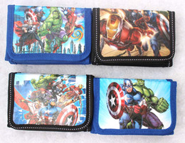 spiderman coins NZ - new Cartoon The Avengers police logo Coin Purses Mini Wallets Mix Lots Spiderman Character Children Kid Gifts Free shipping