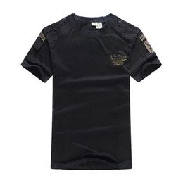 tactical t shirts 2019 - US Navy Seals Tactical T Shirt Airborne Clothes Mens Army SWAT Camouflage Combat Short-sleeve Loose Coon Tee T-shirts ch