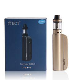 ect atomizer 2019 - Original ECT traveler 80TC electronic cigarette box mod 80W 2.0ml lit mini 0.3ohm 0.5ohm airflow control 2200mah atomize