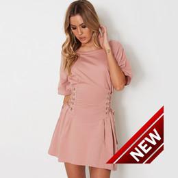 $enCountryForm.capitalKeyWord Canada - Code Autumn Solid Color Pleated Skirt False Bandage Waist Seal Pendulum Night club Dress Suit-dress 2017 dresses WOMEN