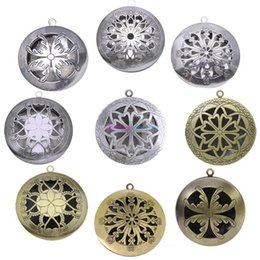 $enCountryForm.capitalKeyWord Australia - 12 Style Antique Silver Aromatherapy Lockets Essential Oil Diffuser Hollow Necklace Locket Diffuser Lockets Perfume Lockets b071