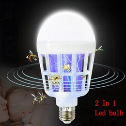 Mosquito Killer Lamp E27 LED Bulb 2 Modes Glow In The Dark Anti Insect Killer Zapper Bug Lamp For Pregnant Women Baby