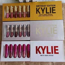 China hot Kylie Jenner holiday & Birthday&Valentine's day Edition Lip Kit Matte Liquid Lipsticks 6pcs set mini kylie lipgloss kit dhl free suppliers