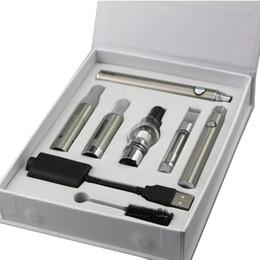Ago Oil Kit Australia - new designs 4 in 1 Starter kit AGO glass cartridge MT3 Vaporizer wax dry herb thick oil e liquid EVOD preheating VV battery