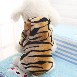 $enCountryForm.capitalKeyWord NZ - Winter Dog coats small dog clothes Warm jumpsuit Flannel Fabric Clothes for Small Dog shih tzu Tiger Leopard Design Pet Clothes