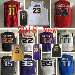 e02a775a1 jr basketball 2018 - College New City Edition Black  35 Marvin Bagley III  Jersey Stitched