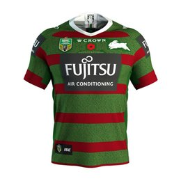 Chinese  2019 NRL JERSEYS Australia SOUTH SYDNEY RABBITOHS Australia NRL National Rugby League SOUTH SYDNEY RABBITOHS 2018 ANZAC JERSEY size S-XXXL manufacturers