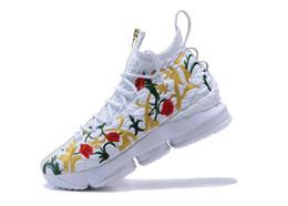 21bafd34 Zapatos de baloncesto florales atléticos de KITH x LeBron 15 de alta  calidad para hombre Zapatillas de deporte largas de King the Live