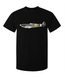 $enCountryForm.capitalKeyWord UK - Supermarine Spitfire Legendary Plane Art men's (woman's available) t shirt black