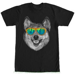 M Sunglasses Brands UK - Men Brand Clothihng Top Quality Fashion Mens T Shirt 100%cotton Lost Gods Wolf Sunglasses Mens Graphic T Shirt