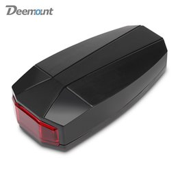 Wholesale Deemount A6 Wireless Smart USB Rechargeable Bicycle Taillight with Controller icycle taillight and anti theft alarm in one device