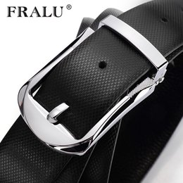 Designer Leather Trousers Australia - FRALU 2017 designer belts belt men first layer cowhide belt male leather buckle casual business trousers male belt