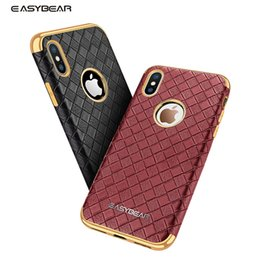 $enCountryForm.capitalKeyWord Canada - Easybear case for iphone x TPU+PU soft Plaid skin pattern back cover for iphone x 10 Car hidden magnets case