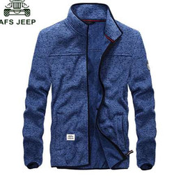 Wholesale afs jeep jackets resale online – Afs Jeep Spring Autumn New Jacket Men Casual Fashion Windbreaker Mens Bomber Jackets Slim Fit Stand Collar chaquetas hombre