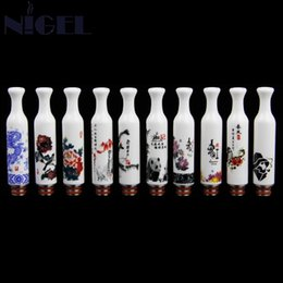 mouthpiece china wholesale UK - Nigel China Ceramic & Stainless Steel Drip Tip Long 510 Drip Tips Mouthpieces Fit For 510 Elctronic Cigarette Atomizer