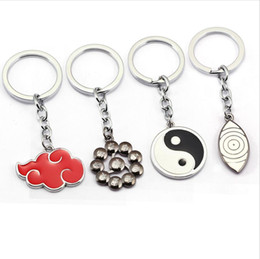 Discount naruto ring - hot sale 4 styles Anime Naruto Keychain fashion key ring key chains holder llaveros chaveiro jewelry gifts
