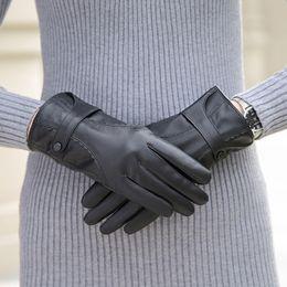 $enCountryForm.capitalKeyWord Australia - TONFUR Top Quality Genuine Leather Gloves Women Plush Warm Winter Gloves Female Mittens Sheepskin Tactical Glove KWA548