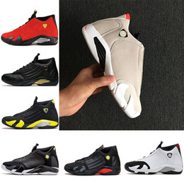 e9c4cbfa1b0406 14 XIV Oxidized Green Indiglo Thunder Playoffs Black Toe Red Suede 14s Men  Basketball Shoes Sneaker Last Shot Sport Shoes designer trainers