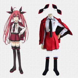 date live cosplay 2020 - New Date A Live Itsuka Kotori Cosplay Costume Uniform Outfit + Stocking Halloween Costumes for Women S-XL Custom Any Siz