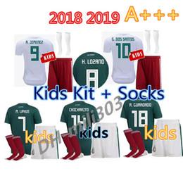 5e91214a3ff Mexico socks online shopping - 2018 MEXICO kids kit soccer jersey world cup  CHICHARITO CHUCKY LOZANO