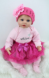 Discount like dolls - Wholesale- 22 inch Soft Like Silicone Reborn Baby Doll Lifelike Princess Newborn Babies Toys Gift