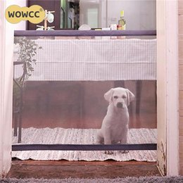 safety gates 2019 - New Arrivals The Ingenious New Mesh Magic Pet gate Safe Guard and Install anywhere Pet safety Enclosure discount safety