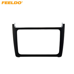 Discount dvd for car installation - FEELDO Black 2DIN Car Refitting Radio Stereo DVD Frame Fascia Dash Panel Installation Kits For Volkswagen Polo(Typ6C;201