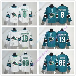 6b29d1def San Jose Sharks Jersey 8 Joe Pavelski 19 Joe Thornton 88 Brent Burns Jerseys  Ice Hockey Winter Classic Stadium Series