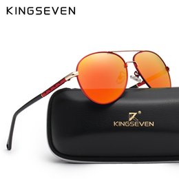 fd7eb5b97ed X KINGSEVEN Brand Design Pilot Sunglasses Men and Women Polarized Mirror  Hollow Frame UV Glass Goggles For Driving Fishing N7866