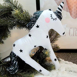 Discount doll bodies wholesale - Creative Funny Animal Baby Kids Gift Animals Doll Pillow Home Hug Cute Unicorn Soft Comfortable Plush Toys Pony Stuffed