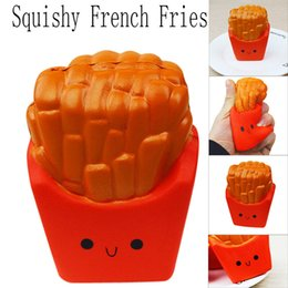 decor cream Australia - 12CM French Fries Cream Scented Squeeze 6 Second Slow Rising Toy For Children Adults Relieves Stress Anxiety Cabinet Decor Relax