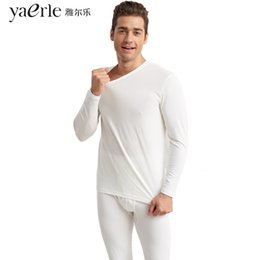 $enCountryForm.capitalKeyWord NZ - Winter Warm Men's Thermal Underwear Cotton Lycra A set Long Johns Comfortable Combed Cotton Round Neck Undershirts Sleepwear Y3