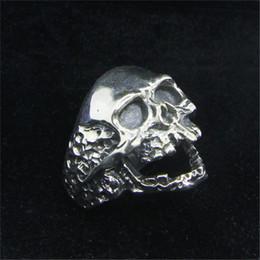 Men Size 15 Rings Australia - Size 7-15 New Design 925 Sterling Silver Walking Dead Skull Ring S925 Hot Selling Men Boys Skull Ring