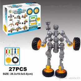 $enCountryForm.capitalKeyWord NZ - Stick Building Block Sets 27pcs Car Robot Assembly & Disentanglement Block Puzzle Toy Ages 3+ Preschool Educational Kids Toys