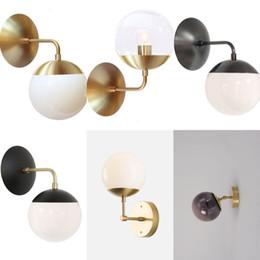 Nordic Cuivre Moderne LED Mur Lampe À La Maison Éclairage Intérieur Salle  De Bains Miroir Lumière Boule De Verre Mur Lumières Luminaires Arandela