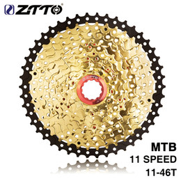 Bicycling Gear Australia - ZTTO HITO MTB Bicycle 11Speed 11-46T SL L Black&Gold Freewheel Cassette Shimano Parts for XT K7 X1 X01 GX NX 1X