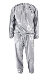 China 2018 new Heavy Duty Fitness Weight Loss Sweat Sauna Suit Exercise Gym Anti-Rip Silver and Black cheap weight silver suppliers
