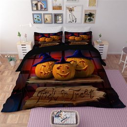 customized bedding sets Australia - Customized Cartoon Pumpkin Kids Bedding Set Halloween Duvet Cover Pillowcases Nightmare Bedclothes Twin Full Queen King Size 3PCS