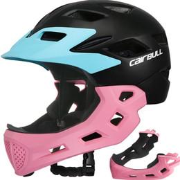 $enCountryForm.capitalKeyWord NZ - Kids Full Face Bicycle Helmet Child Road MTB Balance Bike Skateboard Rollerskating Safety Cycling Helmet Detachable Chin Guard