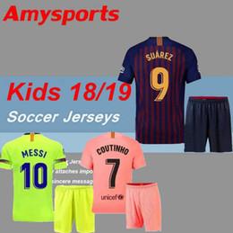 c516b54e9 18 19 kids kit Barcelona 2018 MESSI SUAREZ Jersey soccer 2019 home away 3rd  PIQUE INIESTA COUTINHO A.INIESTA football shirt youth boy Kit