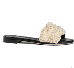 53a7040e2150a0 Women Slippers Summer fashion brand sexy Classic Diamond lattice Luxury  Cool Pearl Beads flash travel sea Beach flat flip flops