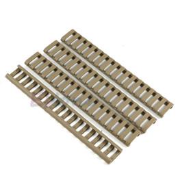 Handguard Rail Covers Australia - 4x 18- Non slip Mat Slot Picatinny Ladder Rail Panel Handguard Protector Resistant Cover