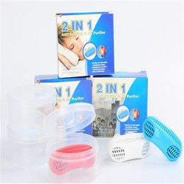 Wholesale New in1Anti Stop Snoring Snore Free Magnetic Silicone Snore Stopper Sleep Device