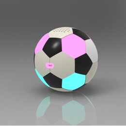 $enCountryForm.capitalKeyWord Australia - World Cup Music LED Colorful Football Bluetooth Speaker Portable Soccer wireless Subwoofer Anti-drop PU Leather Colour Lights roly-poly ball